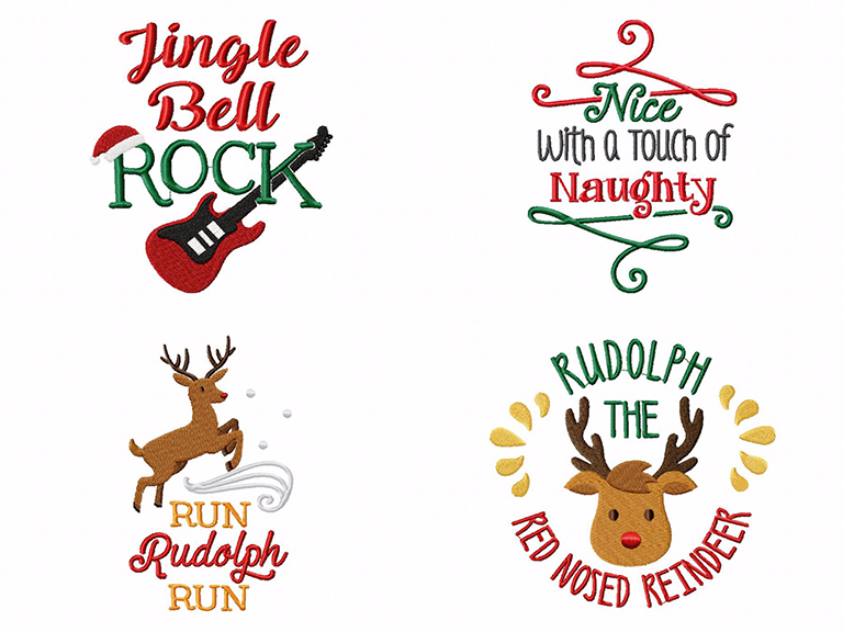 Santa We Really Tried 16 Cute Funny Quotes Machine Embroidery