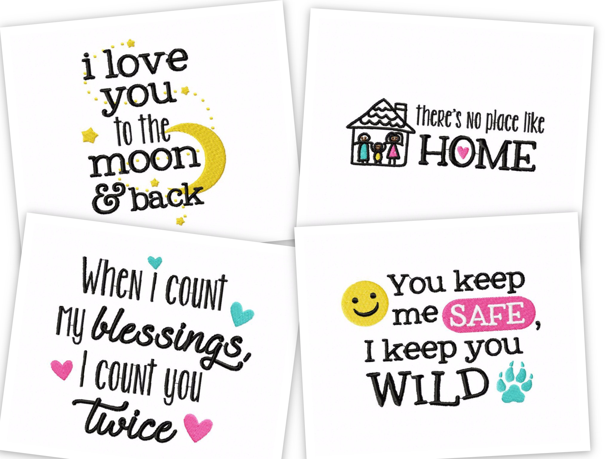 Friends & Family Quotes – 12 Machine Embroidery Designs – Embroidery ...