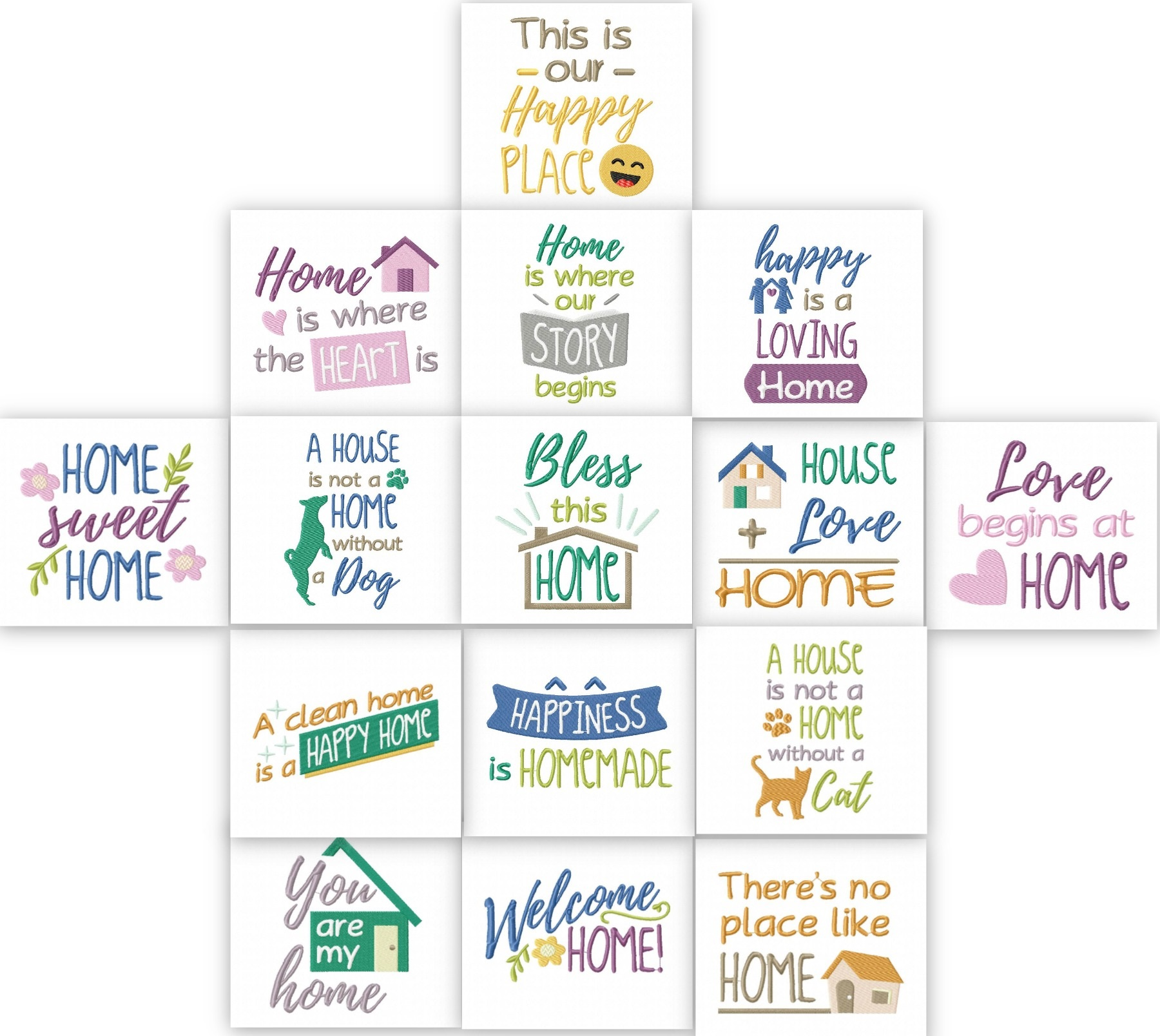 home sweet home quotes embroidery pack embroidery super deal
