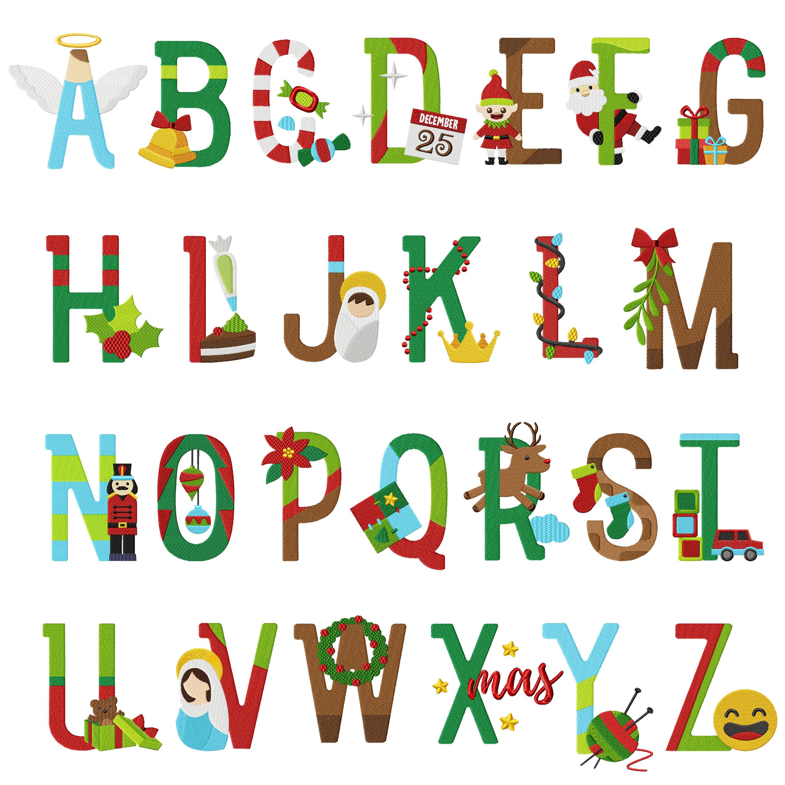 Christmas Alphabet.26 Christmas Alphabet Holiday Pack